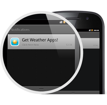 Android push notification mobile ads